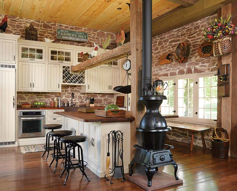 Painted Kitchen Cabinets In Log Homes