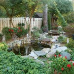 A new water feature near the patio soothes with sound.