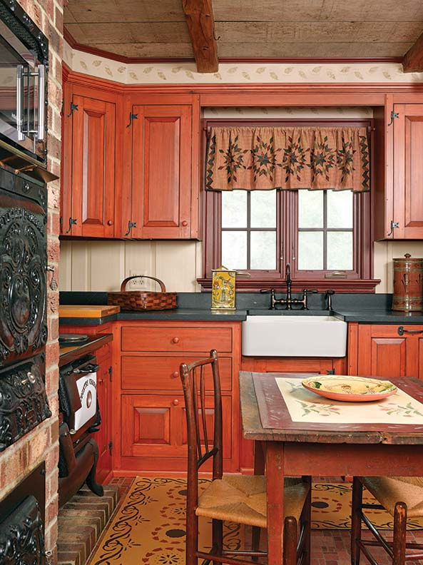 An artisan made reproduction cape old house online old for Reproduction kitchen cabinets