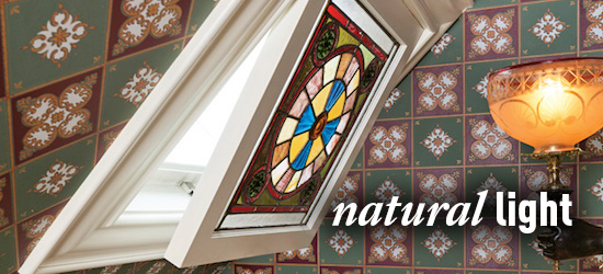 skylight, stained glass