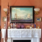 """Guest bedroom theme of """"ships on the Hudson"""" continues."""