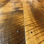 Wide plank pine with circular saw marks