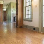 Wide plank Red Oak flooring