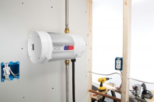 Heatworks' Model 1 is an electric, digital water heater that can be used to heat a small house.