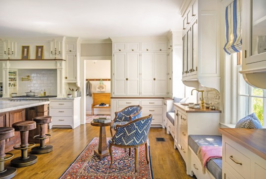 colonial revival inspired kitchen