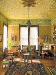 Stenciling or otherwise hand-painting decoration allows for scaling historical patterns and choosing any palette. (Photo: David Duncan Livingston)